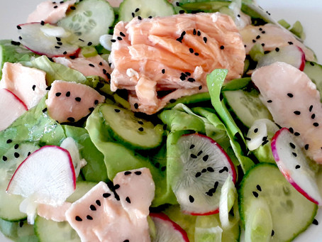 Roasted Salmon with Green Salad