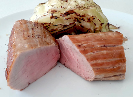Pork Loin with Steamed Cabbage