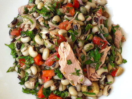 Black Eyed Peas with Tuna