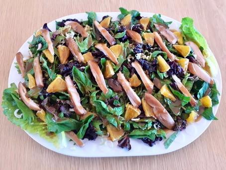 Chicken Salad with Orange and Molasses Vinaigrette