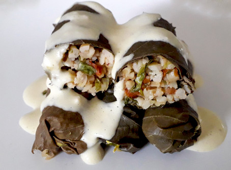 Tabbouleh Style stuffed Vine leaves