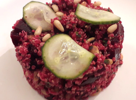 Beetroot Quinoa with Cucumber versions