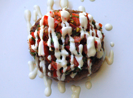 Beef patty with Tomato Salsa