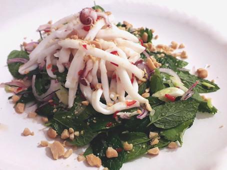 Thai Squid Salad with Fresh Herbs