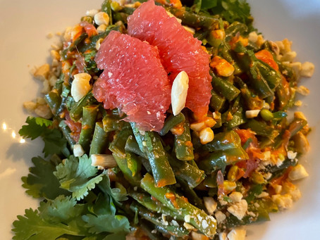 String beans with Grapefruit and Almonds