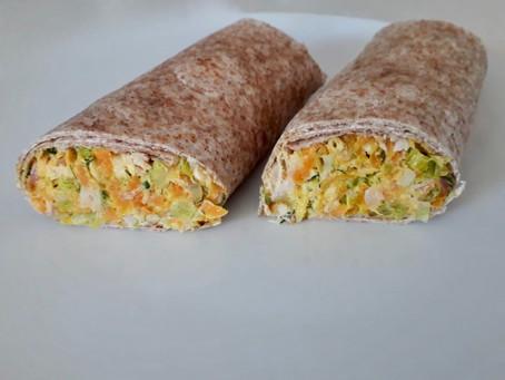 Carrot and Leek Tortilla Wrap