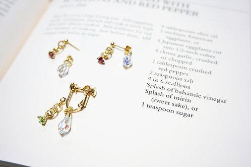 birthday stone ring pierce × swaro catch (single)