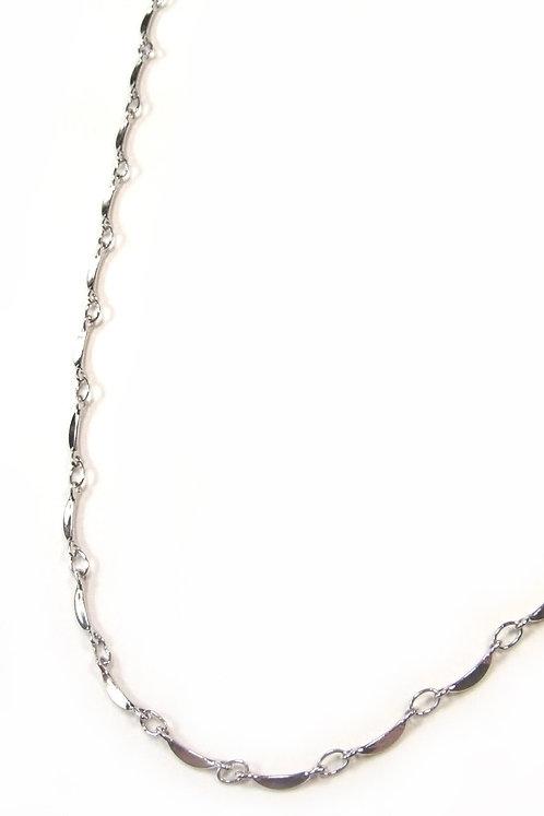 crescent moon chain silver