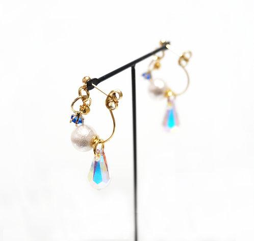 birthday stone ring × swaro &C pearl catch(single)