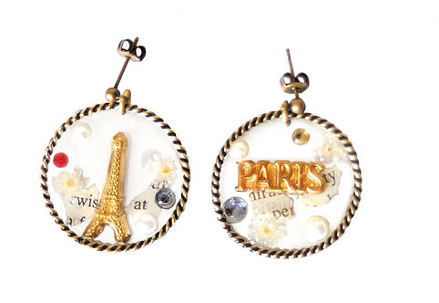 eiffel tower × paris hoop pierce (single)