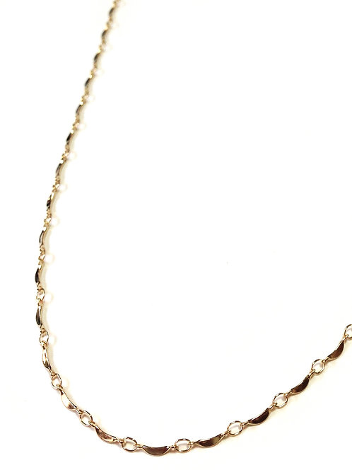 crescent moon chain gold