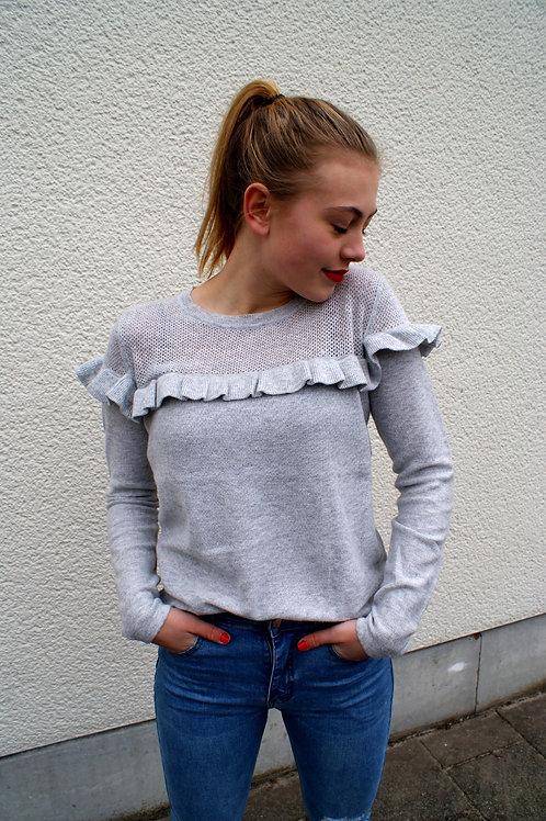Sweater met ruches