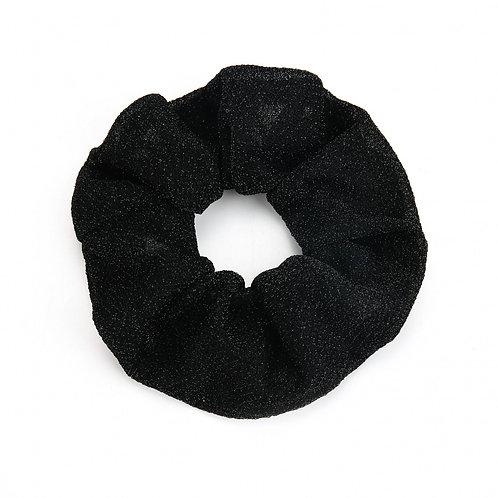 Scrunchie black glitter