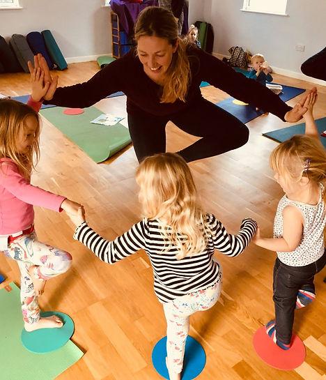 Me teaching toddler & pre-school Yoga co