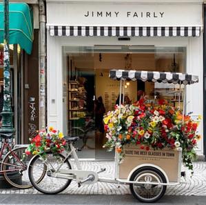 Triporteur fleuri Jimmy Fairly - Montorgueil
