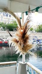 Décor végétal pour évènement péniche - AMI-Paris