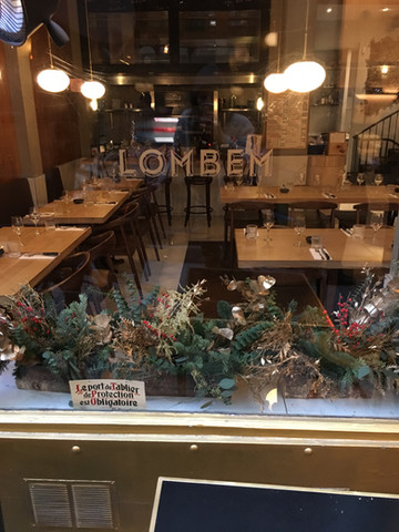 Vitrine de Noël - Restaurant Lombem