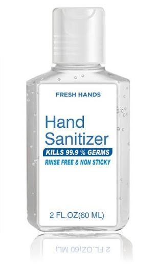2oz Gel Hand Sanitizer