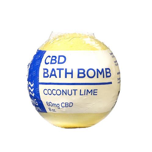 CBDLiving Coconut Lime Bath Bomb