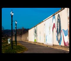 Memorial Walkway on the Ironton, Ohio Riverbank