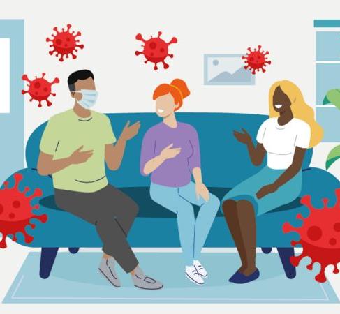 Covid-19: grafico que te ayuda a evaluar el riesgo de contagio cada vez que vas a una reunión social
