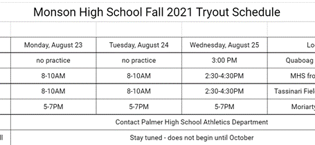 Fall 2021 Sports Information