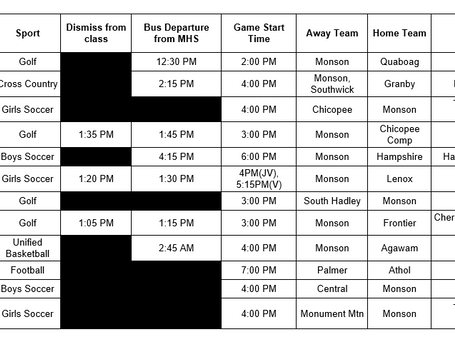Getting close to playoff time - check out next week's schedule for our Mustangs!