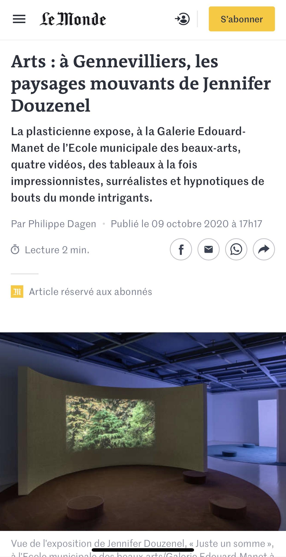 Le Monde丨Arts : à Gennevilliers, les paysages mouvants de