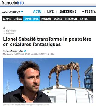 Lionel Sabatté s'installe pour l'été à La Rochelle
