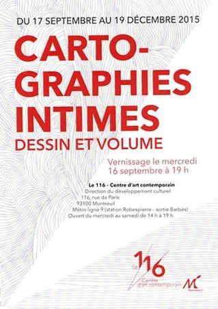 """""""Cartographies, dessin et volume"""" : exposition collective de Clément Bagot"""