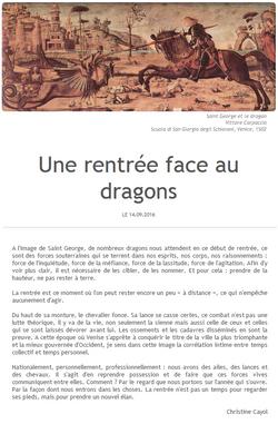 un rentrée face aux dragons