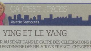 """Le Figaro - """"50 ans 50 personnes, diner au Sénat avec Christine Cayol et Jean-Pierre Raffarin : La d"""