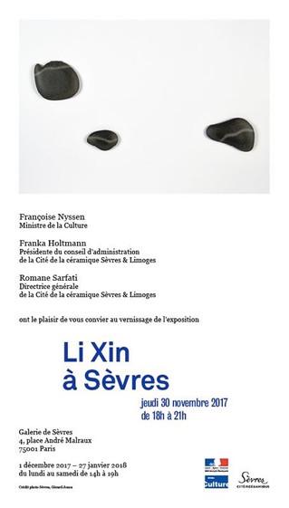 Li Xin à Sevres - Exposition à la Galerie de Sèvres à Paris Ier