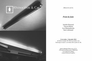 Jennifer Douzenel - Point de fuite à la Galerie éphémère Rhinocéros & Cie