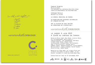 """Variations Le Corbusier"",  exposition collective avec Jennifer Douzenel à CARROS"