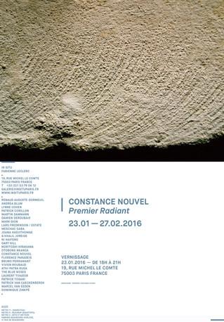 """""""Premier radiant"""", exposition de Constance Nouvel et autres actualités"""