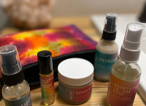 Self Love - Daily Facial Kit with Hemp Cosmetic Bag