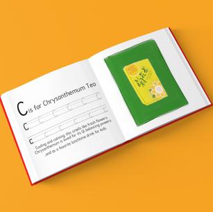 ABC Stencil book mockup with illustration, 2020