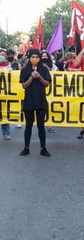 Marcha 10dpy - Internvención en Plaza de la Democracia