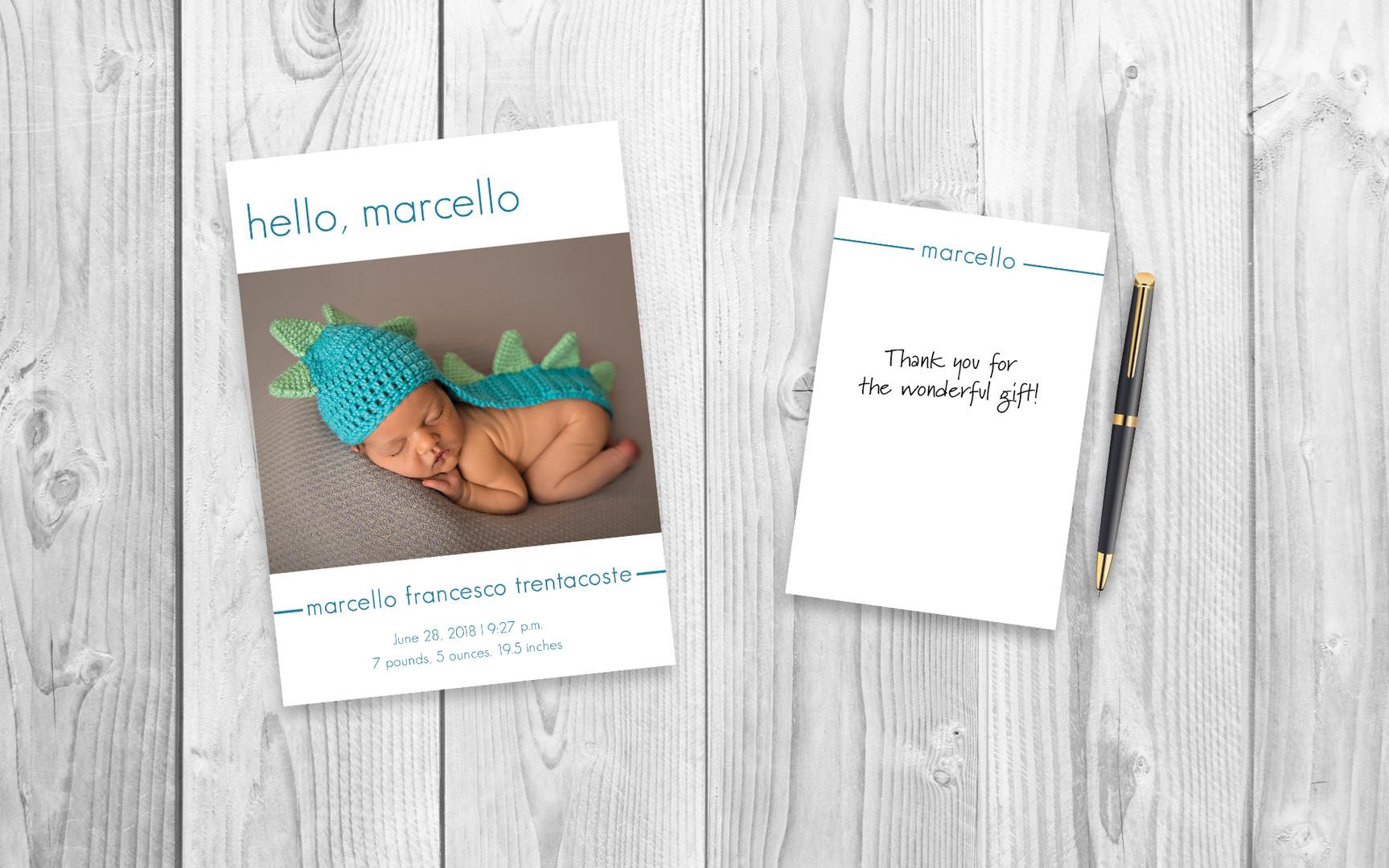 Marcello Birth Announcement
