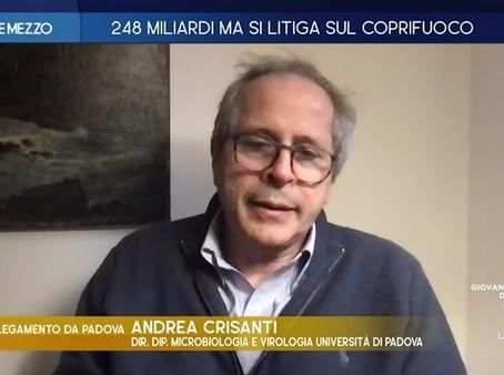 Crisanti a La7:Ordinario a Imperial College,in Italia solo tecnico perché non si premiano i migliori