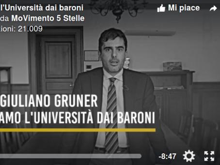 L'universita' libera dai baroni, video e intervista a Giuliano Grüner
