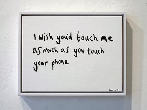 I wish you'd...