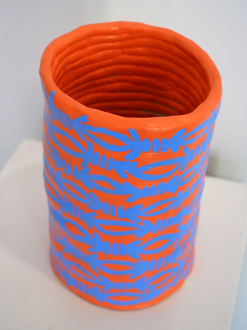 Totally Wired, an original air-dry clay pot by fine artist, ceramicist and British punk band Slaves' member Laurie Vincent.