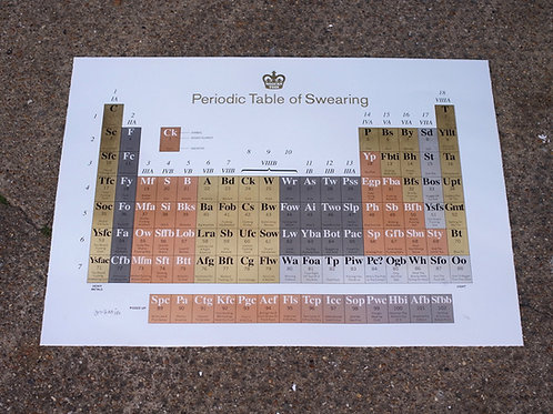 Periodic Table of Swearing: 10th Anniversary Heavy Metals Edition