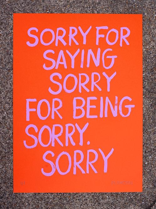 Apologies - Micro Edition - Lavender Orange