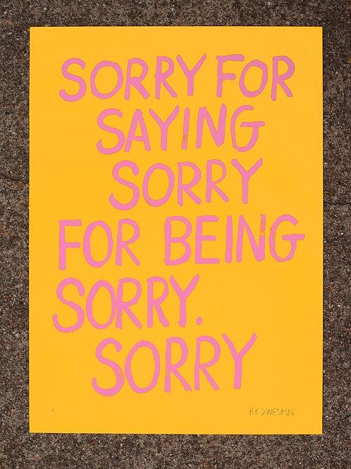 Apologies - Micro Edition - Pink Yellow