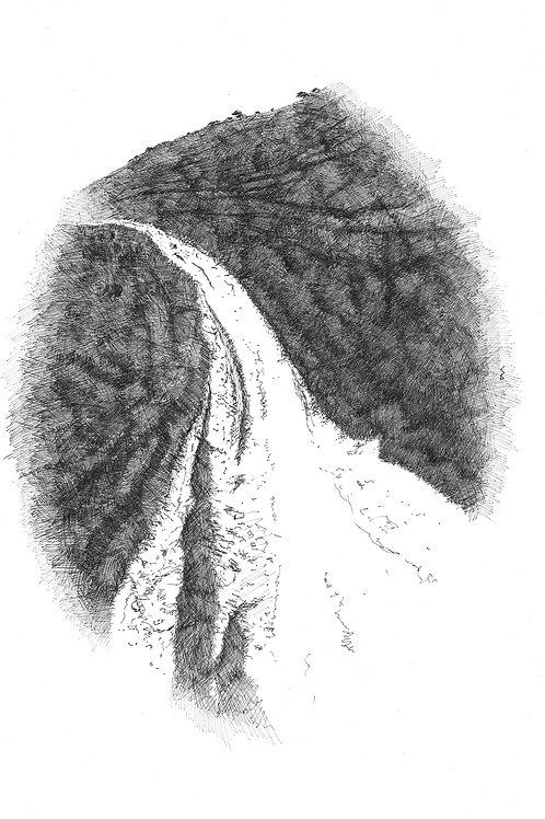 Down Juggs Road (Original drawing)