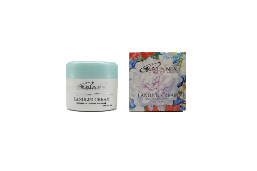Oriana Lanolin Squalene & Vitamin E Moisturiser Cream 100g
