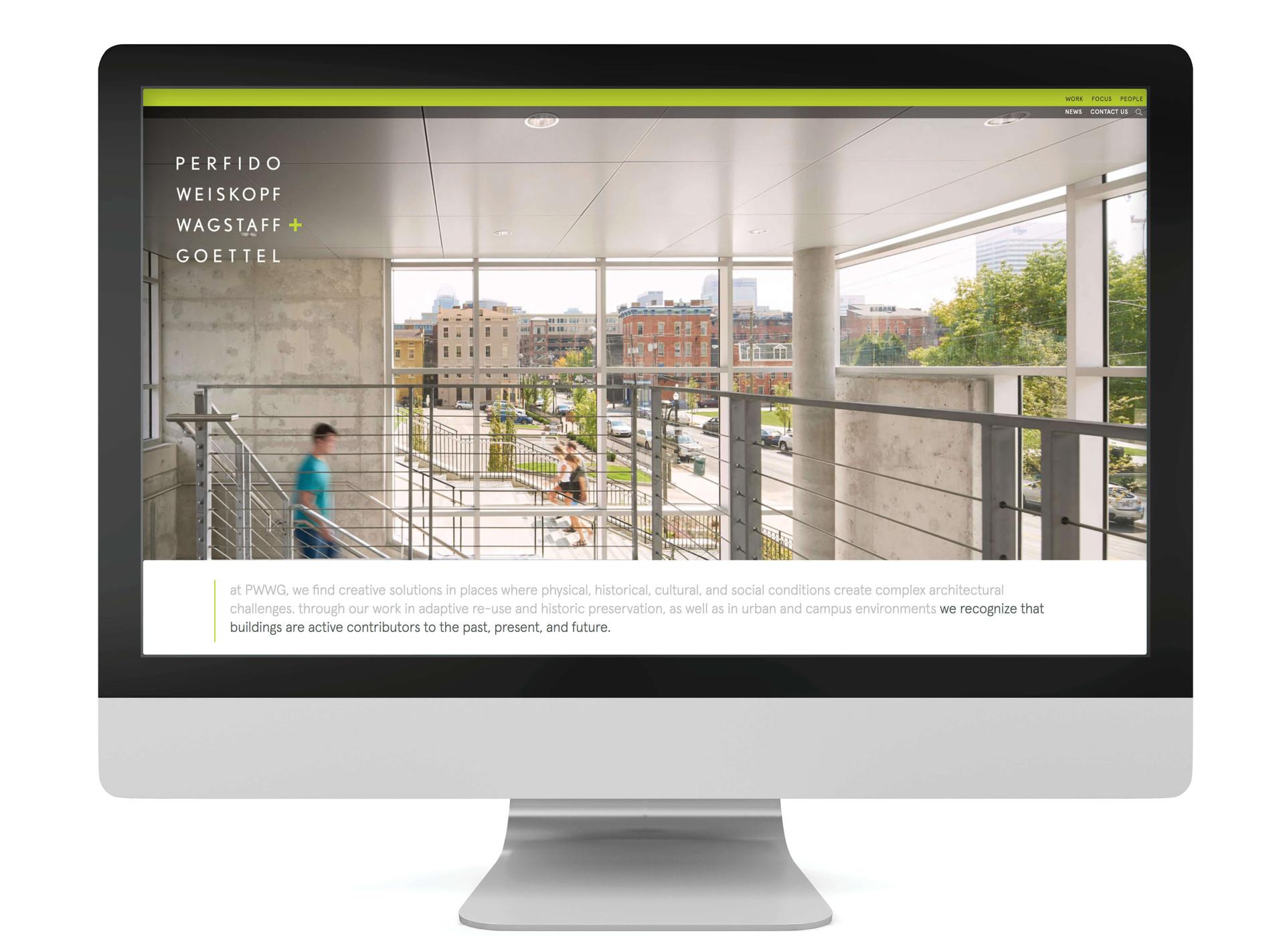 PWWG Architects Website Design